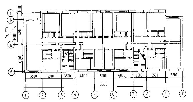 План типового этажа жилого